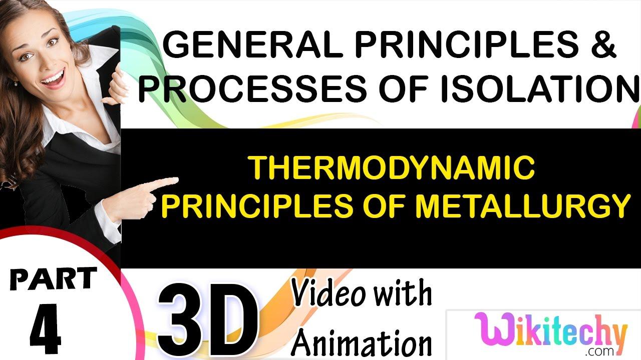Thermodynamic principles of metallurgy processes of isolation of thermodynamic principles of metallurgy processes of isolation of elements class 12 chemistry cbse ccuart Choice Image