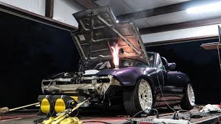 We put Meep, the Turbo Miata, on the DYNO!