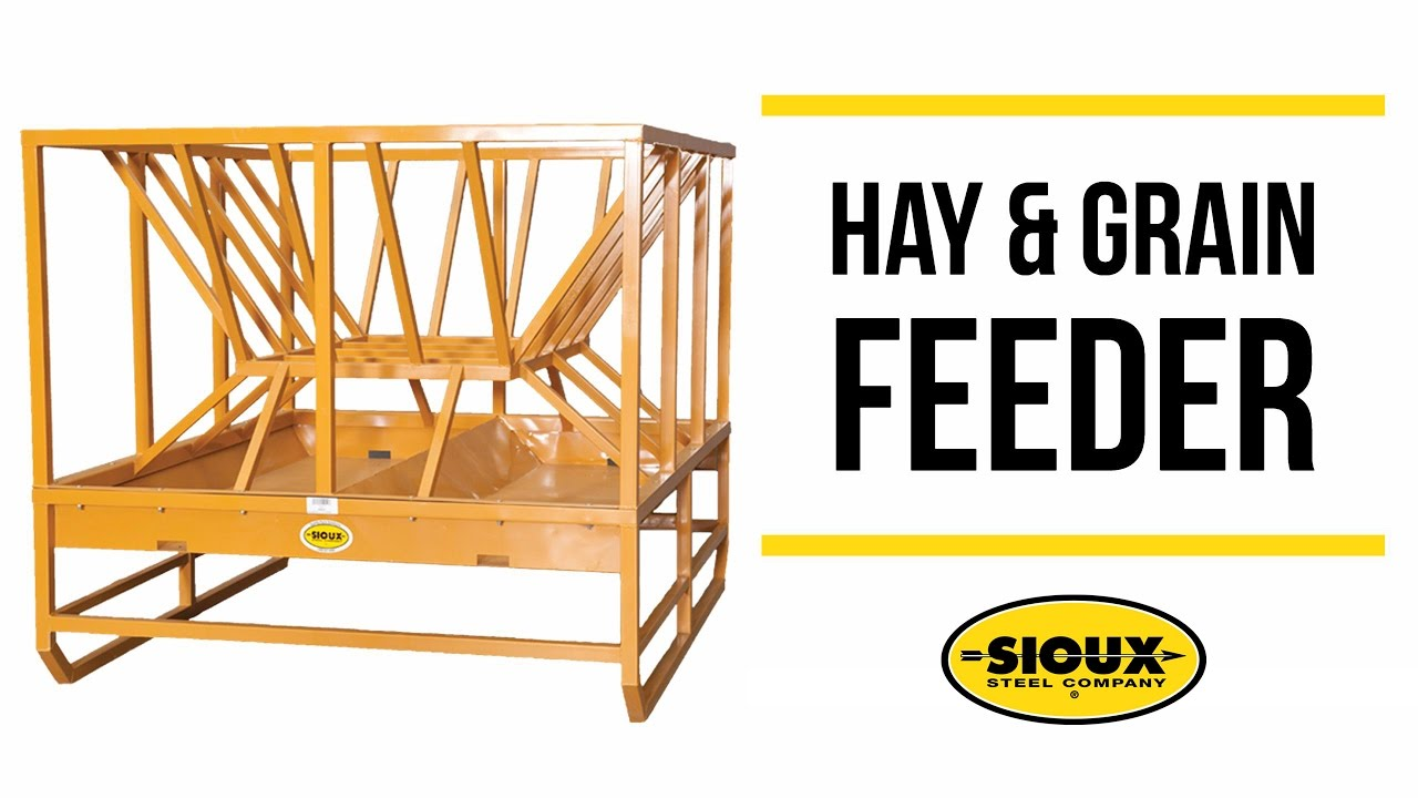 Sioux Steel Hay Grain Feeder Youtube