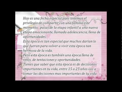 Bendiciones para la linda quinceañera.avi - YouTube