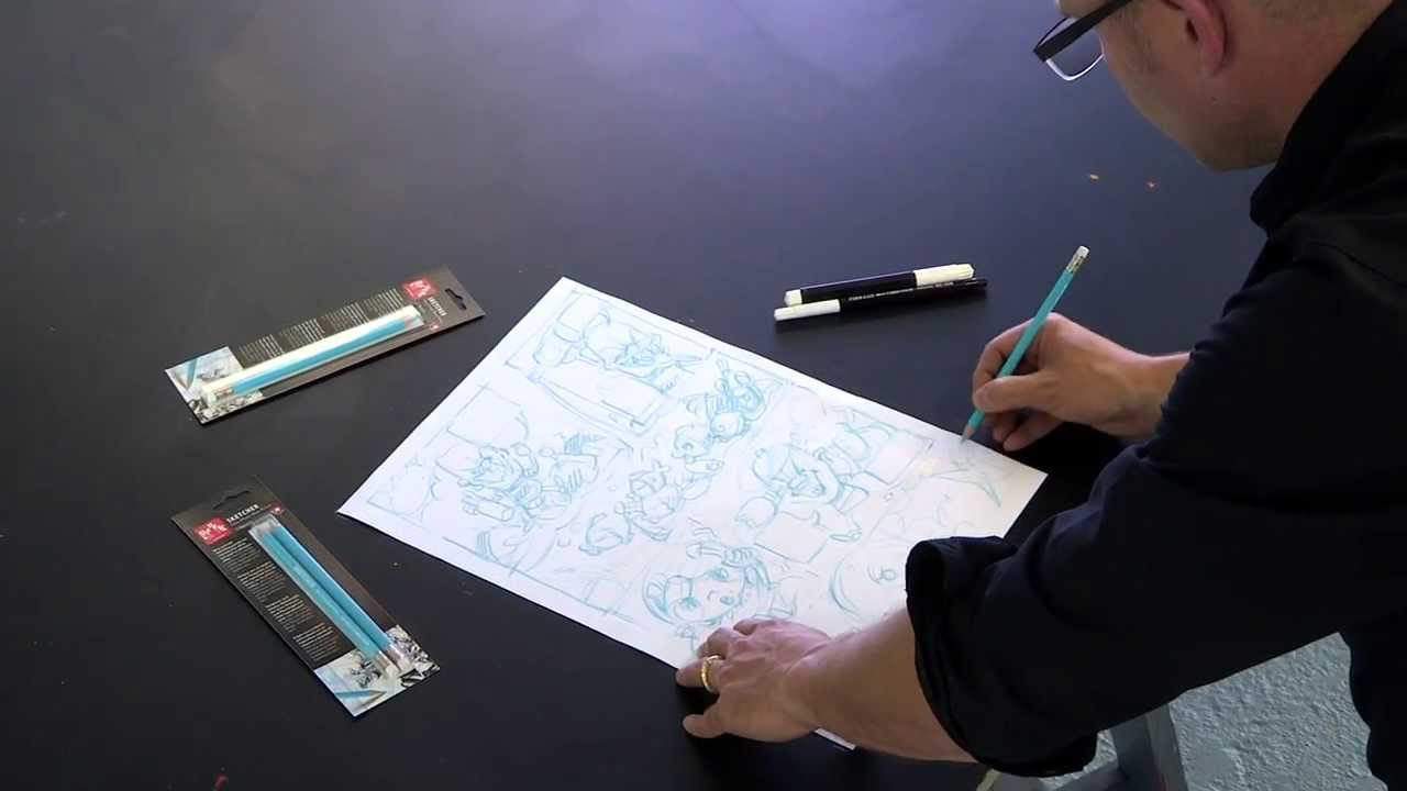 demo sketcher non photo blue pencil youtube