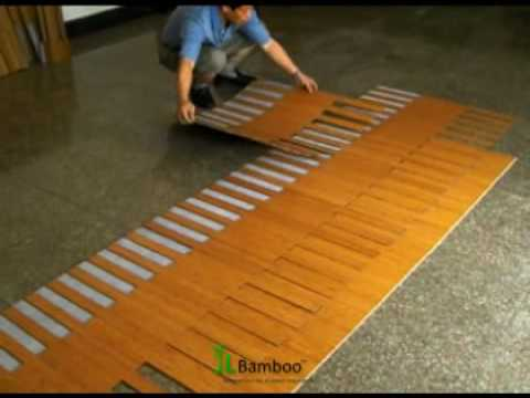 How to install quick lock bamboo flooring youtube for Installing bamboo flooring