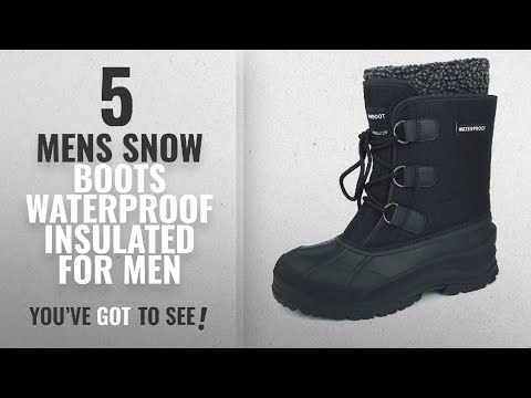 Top 10 Mens Snow Boots Waterproof Insulated [ Winter 2018 ]: MEADA 107Snow Boot Black 10.5