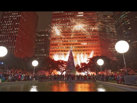 City Of Houston Christmas Tree Lighting & Fireworks HD - YouTube