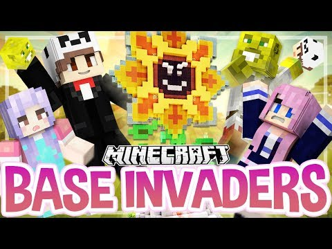 Flower Power! | Minecraft Base Invaders Challenge