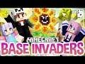 Flower Power! | Minecraft Base Invaders Challenge