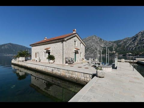 Kotor Bay - Ljuta, Amazing Waterfront Stone Villa