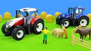Traktor & Bagger in Spielzeug City | Bruder Autos, Lastwagen & Spielsachen Unboxing Kinderfilm
