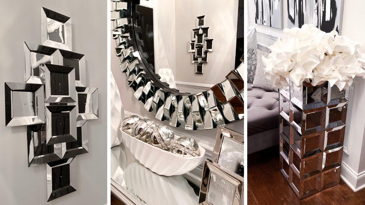 Diy Faux Mirror Home Decor Wall Decor Floor Vase More Youtube