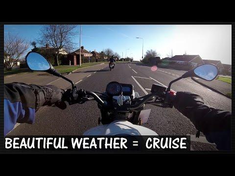 MOTO-VLOG #1 - BEAUTIFUL WEATHER = CRUISE - AMERICAN DINER BREAKFAST (KSR CODE 125)