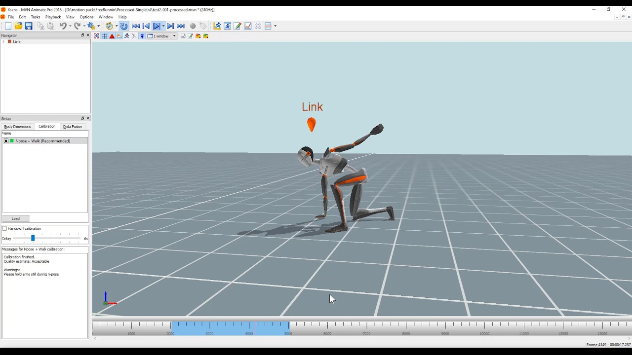 MotionBuilder - Xsens 3D motion tracking