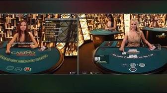 Live Casino Hold'em - Straight Flush und Full House zugleich