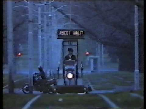 Malcom driving his special tram across Melbourne.