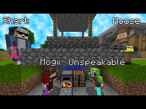 Minecraft Manhunt: Gun edition (Unspeakable, Shark and Moose)