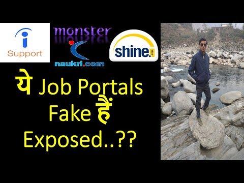 Fake Job Portals Exposed 2018    Indeed  shine.com  Monster  Naukri  How to Identify Fake Job Offers