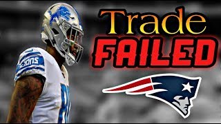 Patriots trade with the Detroit Lions FALLS THROUGH for TE Michael Roberts