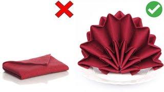 DIY: 5 СПОСОБОВ КРАСИВО СЛОЖИТЬ САЛФЕТКИ ДЛЯ СТОЛА / How to fold napkins / Сервировка стола