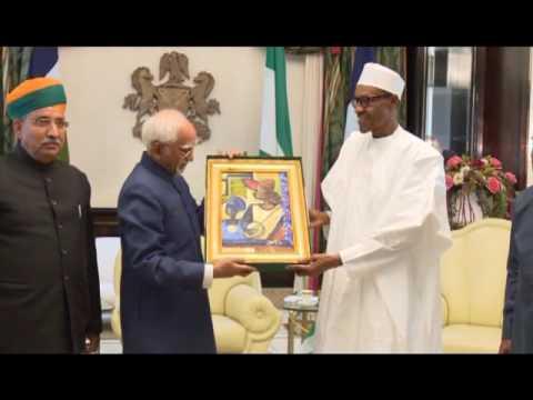 President Buhari Receives Indian VP Mohammed Hamid Ansari