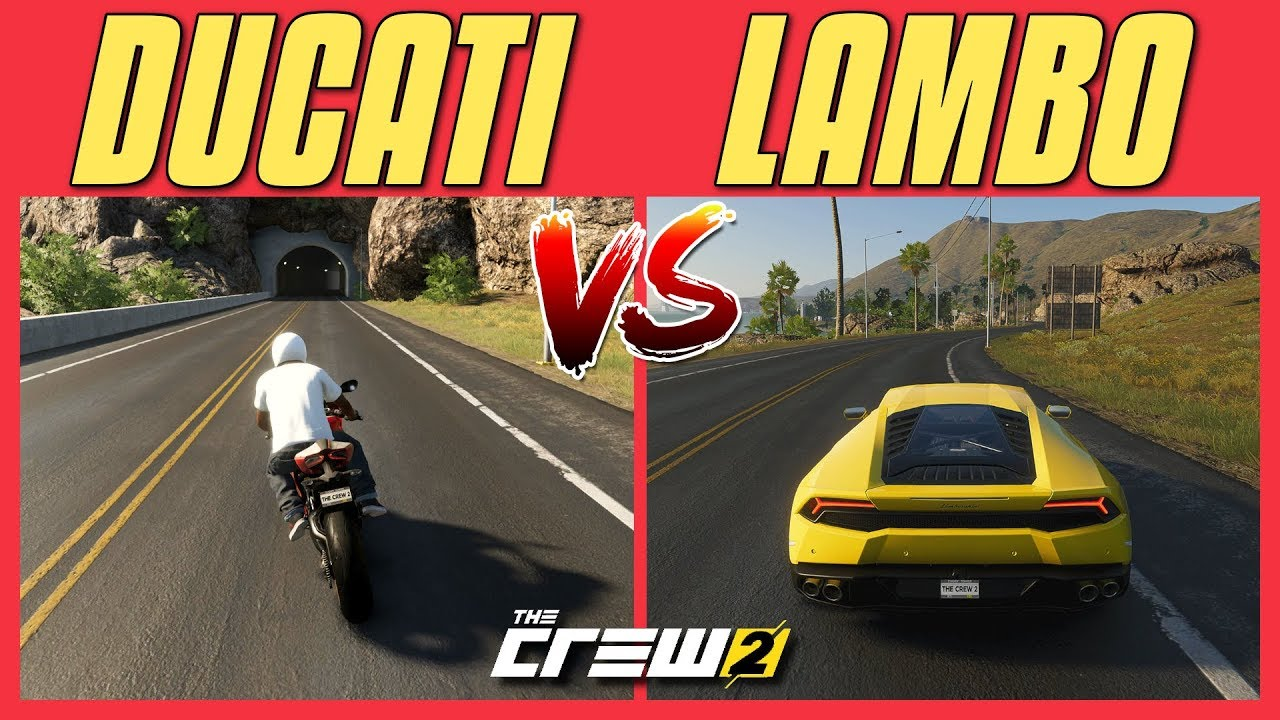 The Crew 2 Bike Vs Car Split Screen Race Los Angeles To Seattle