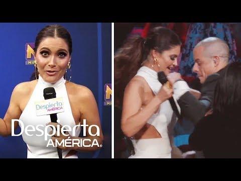 Chiquinquirá Delgado baila con Casper Smart una canción de Marc Anthony