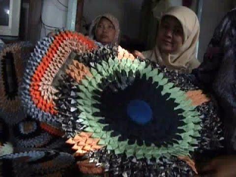 Cara membuat keset cantik dari kain bekas
