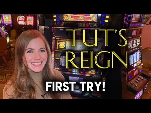 First Time Trying Tut's Reign Slot Machine! $9 Spins!!