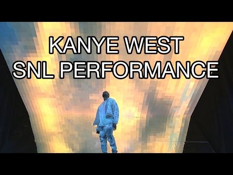 Kanye West 'Ultralight Beam' 'Highlights' SNL Performance 2016 Chance the Rapper Saturday Night Live