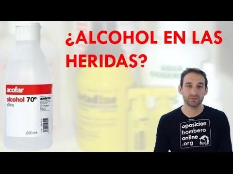 para que sirve el alcohol para curar heridas