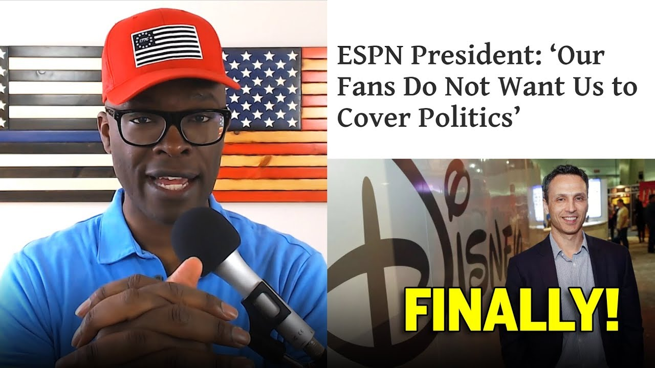 Anthony Brian Logan - ESPN Says Fans DO NOT Want Politics Mixed With Sports!