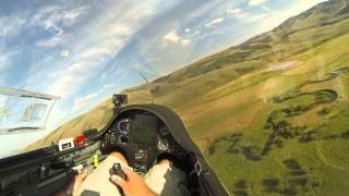 Glider Landing in Mountain Field Goes for Wild Ride