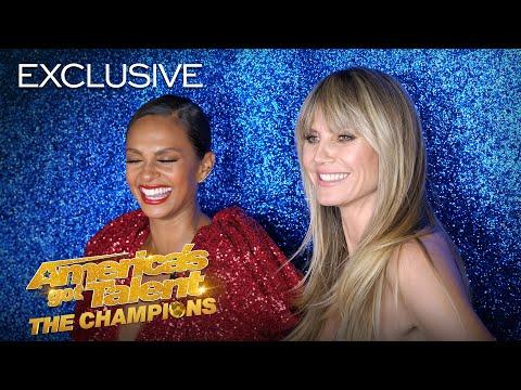 YO! Heidi Klum and Alesha Dixon Rap AND Yodel! - America's Got Talent: The Champions