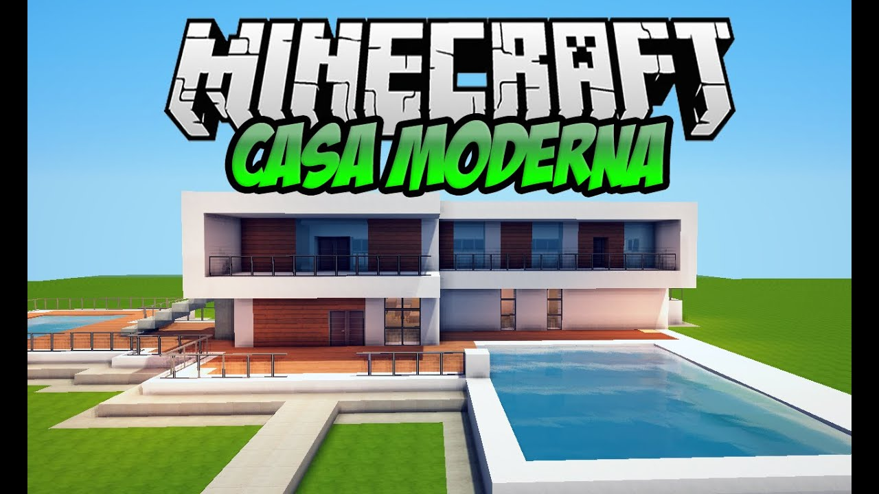 Minecraft casa moderna no superplano para download 3 for Tutorial casa moderna grande minecraft