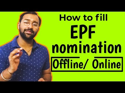How To Fill EPF Nomination Form Online/offline And Update PF Nominee