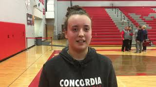 Michigan Center's Alize Tripp after win over Springport