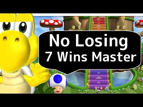 Mario Party 9◆Step It Up 7 Wins 【No Losing】 Free-For-All Minigames◆Master Difficuty (Koopa)