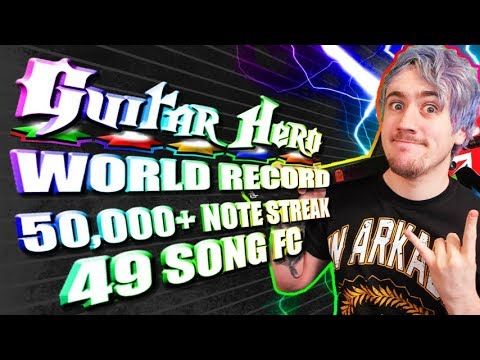 [WORLD RECORD] 50,000+ note streak! An entire Guitar Hero game 100% fc'd in a row