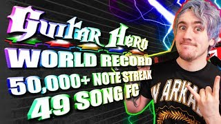 [WORLD RECORD] 50,000+ note streak! An entire Guitar Hero game 100% fc