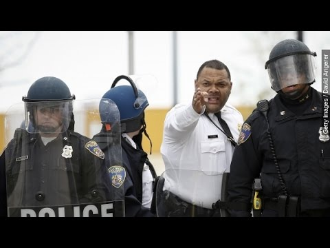 Baltimore Rioters Attack Police After Freddie Gray's Funeral