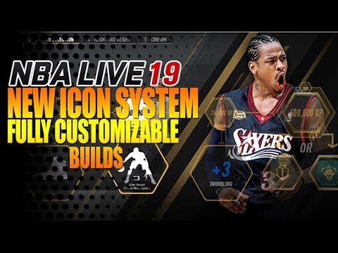 NBA Live 19 NEW ICON SYSTEM!! Character Customization, Mimic Current & Legend Builds!