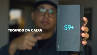 PEGUEI O SAMSUNG GALAXY S9 PLUS - Unboxing.