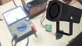 Repair and testing siren 6 tone