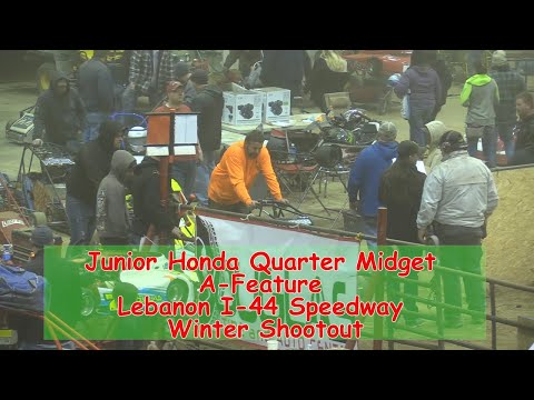 Junior Honda Quarter Midget A Feature   I 44 Speedway Winter Shootout 1 19 2018