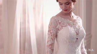 Свадебное платье А силуэт с рукавами от VESILNA™ модель 3040