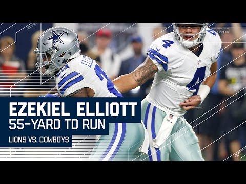 Ezekiel Elliott Takes Off On 55-yard TD Run! | Lions vs. Cowboys | NFL Week 16 Highlights