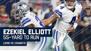 Ezekiel Elliott Takes Off On 55-yard TD Run! | Lions vs. Cowboys | NFL Week 16 Highlights