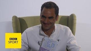 Wimbledon 2017: Roger Federer, Rafa Nadal & Angelique Kerber show off drawing skills - BBC Sport