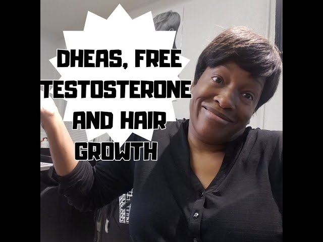 Dheas, free testosterone and hair growth