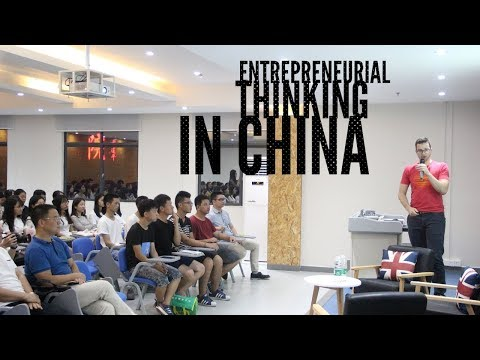 YourChinaGuy in Dongguan: Talk on Entrepreneurial Thinking at Guangdong University