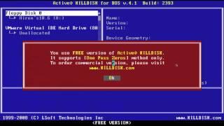 Formatação Zero Fill, Active Kill Disk