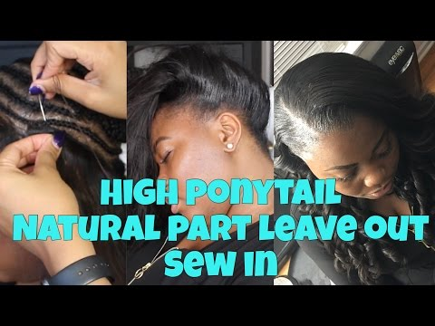 Thin Hair Sew in (with a leave Out)